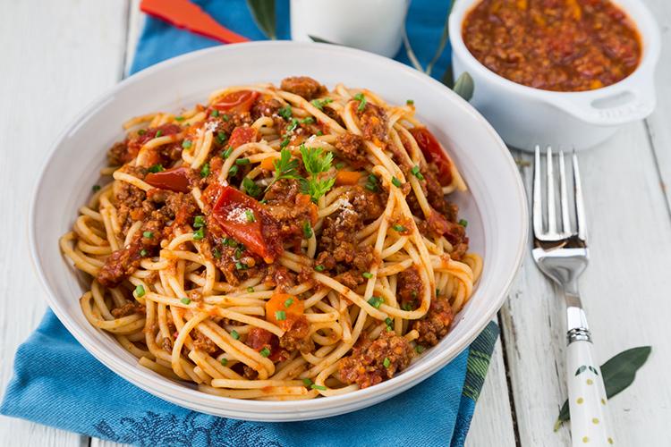 как готовить спагетти с мясом