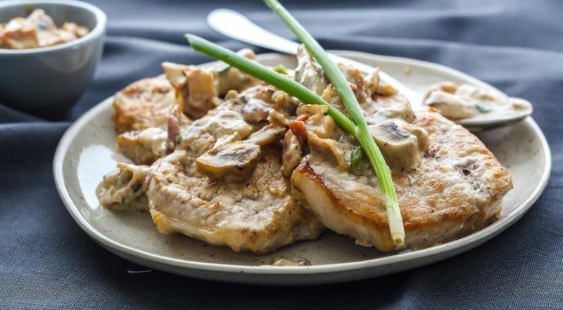 как приготовить мясо с грибами