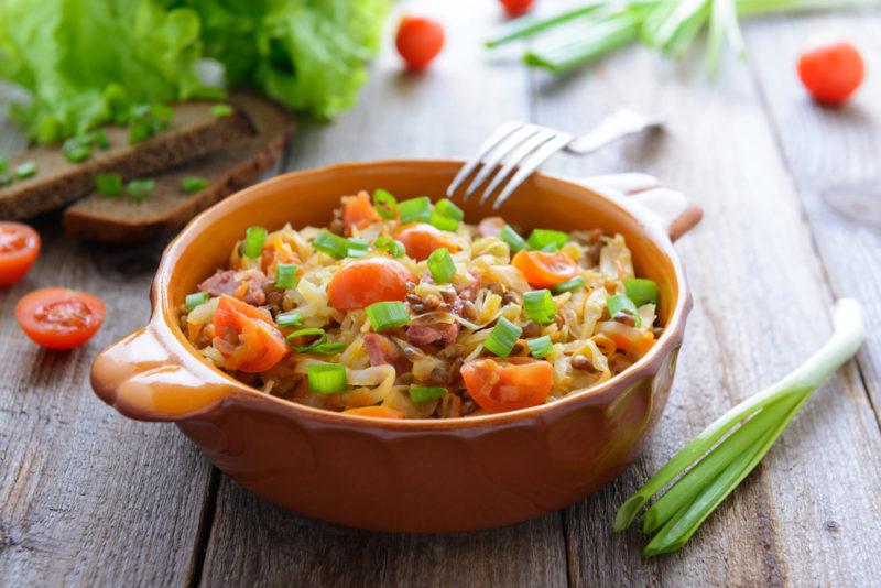 как сделать овощное рагу с мясом
