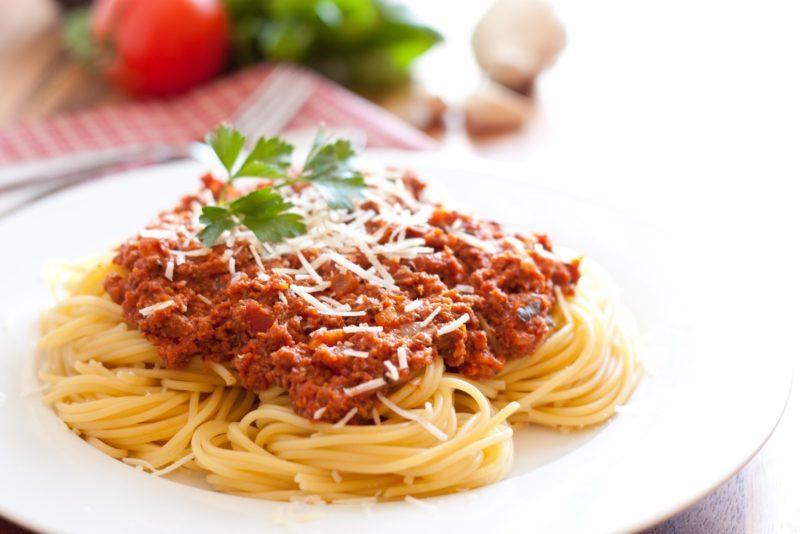 как сделать спагетти с мясом