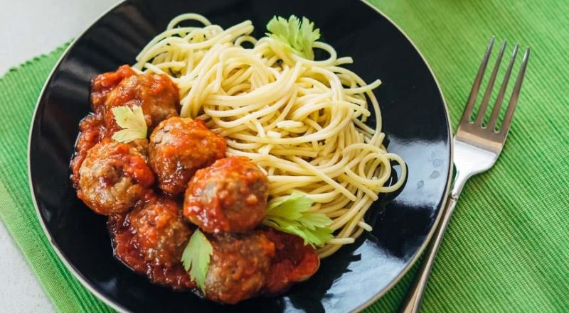 спагетти с мясом рецепт с фото