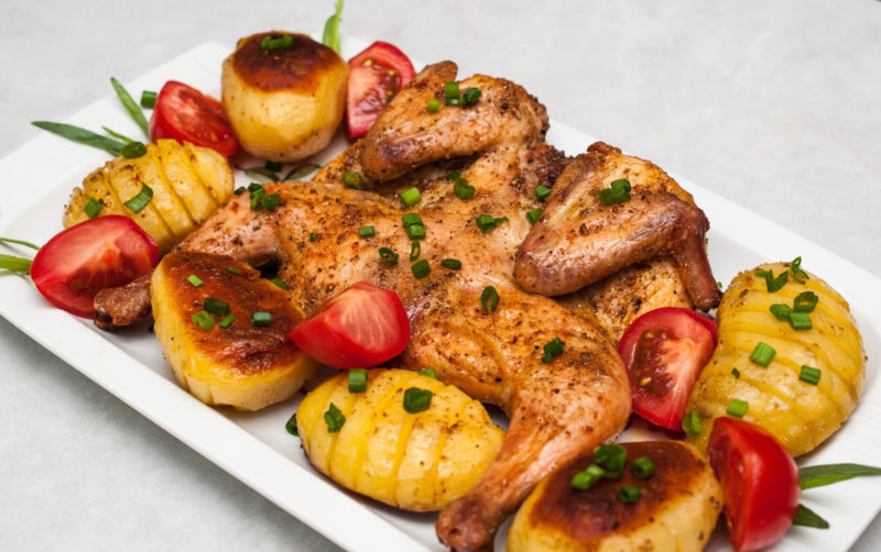 блюда из курицы в духовке рецепт