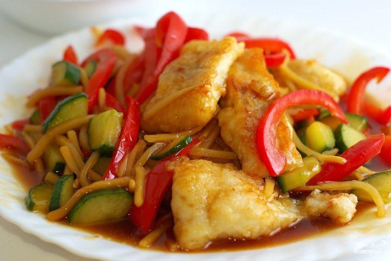 вкусная рыба с овощами