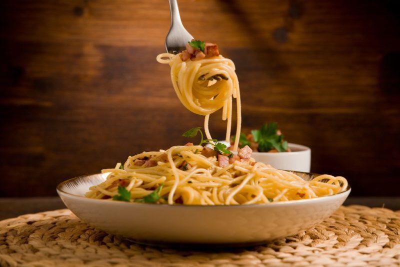 вкусные спагетти с грибами
