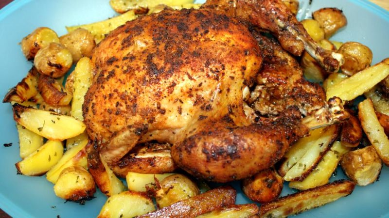 жареная курица рецепт