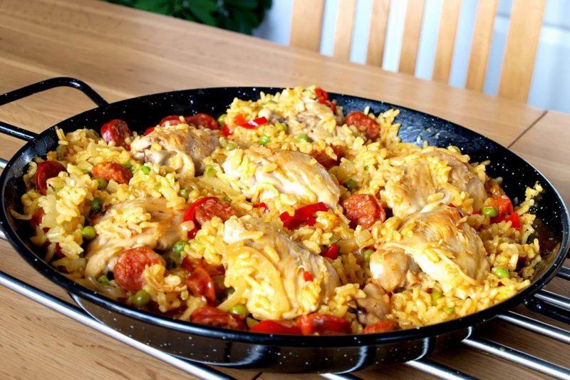 как готовить паэлья с курицей