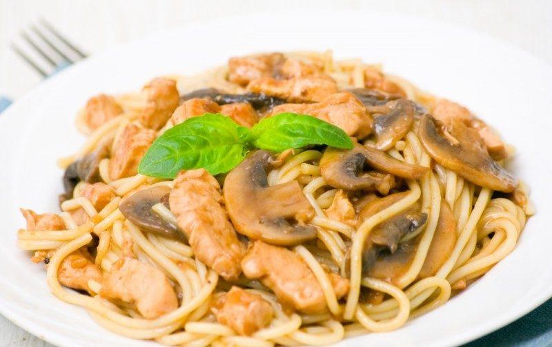 как готовить спагетти с грибами