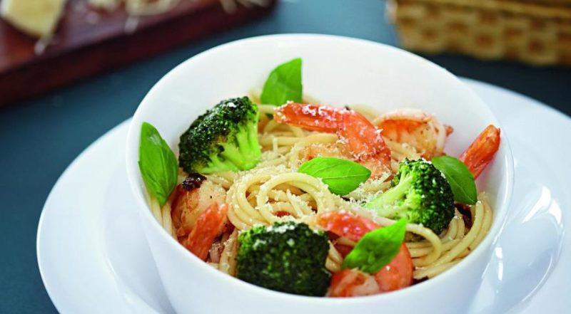 как готовить спагетти с креветками