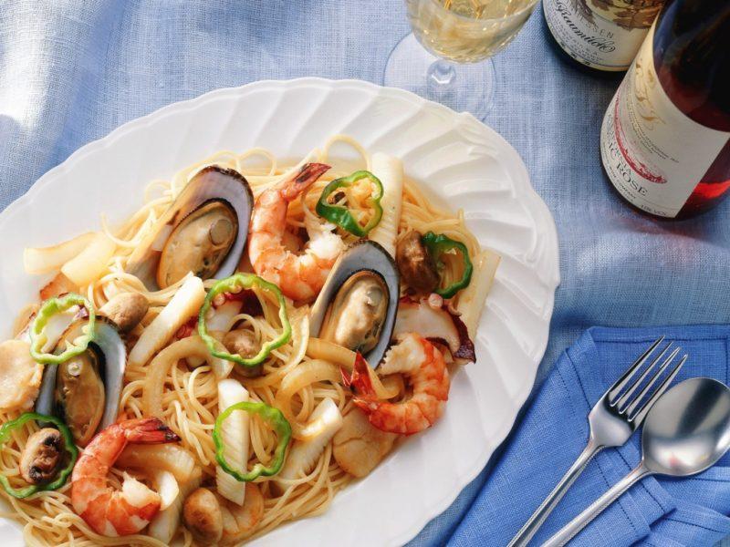 как готовить спагетти с морепродуктами