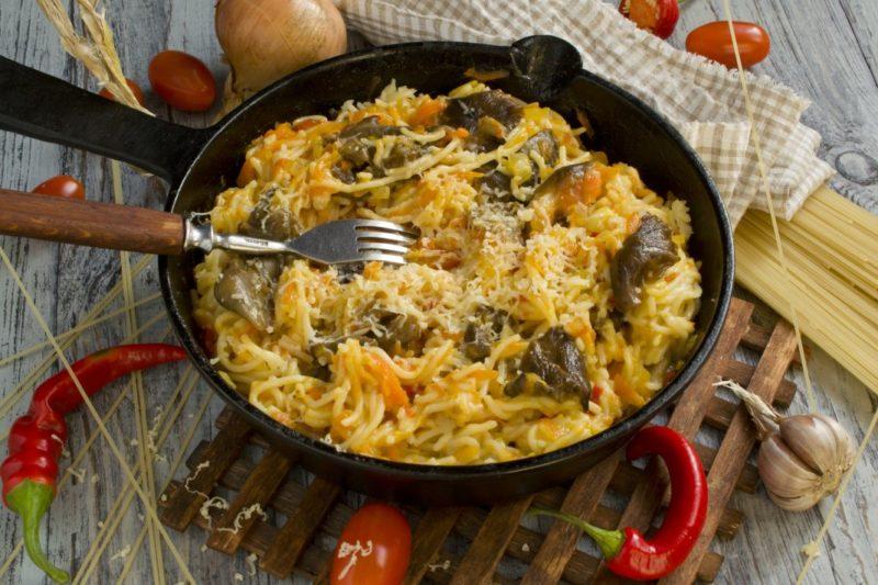 как приготовить спагетти с грибами
