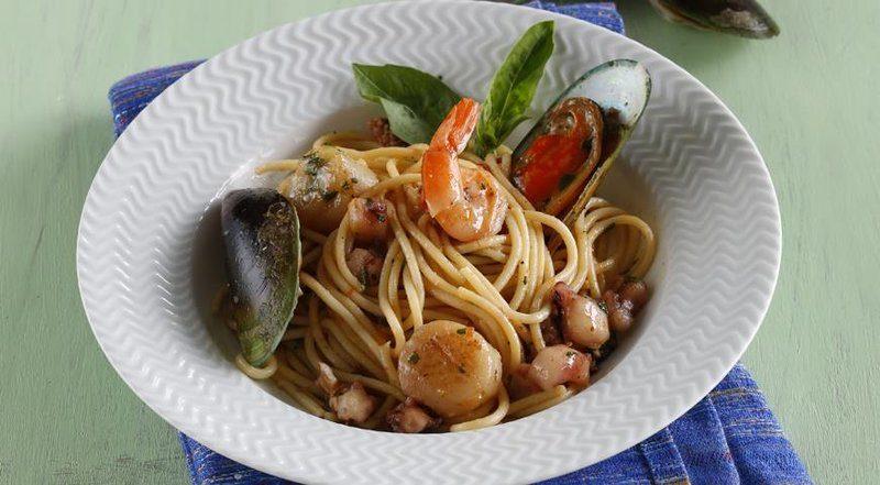 как приготовить спагетти с морепродуктами