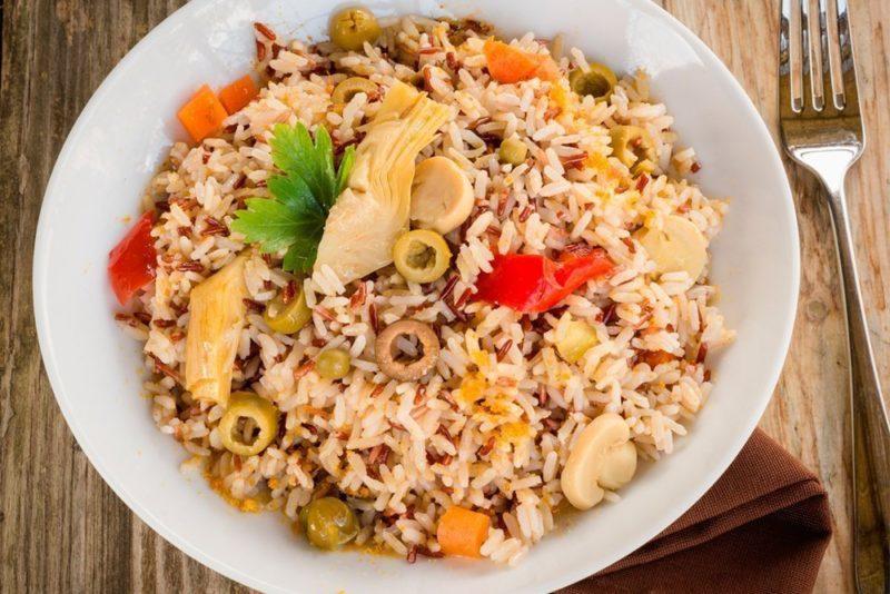 как сделать коричневый рис