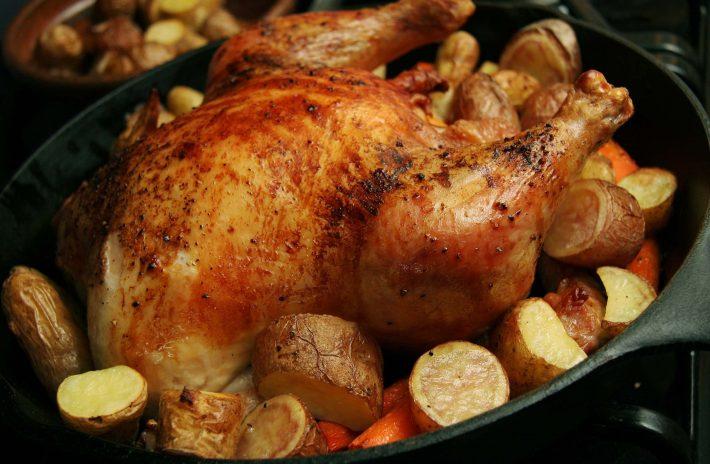 как сделать курицу в фольге