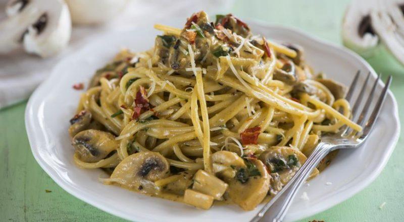 как сделать спагетти с грибами