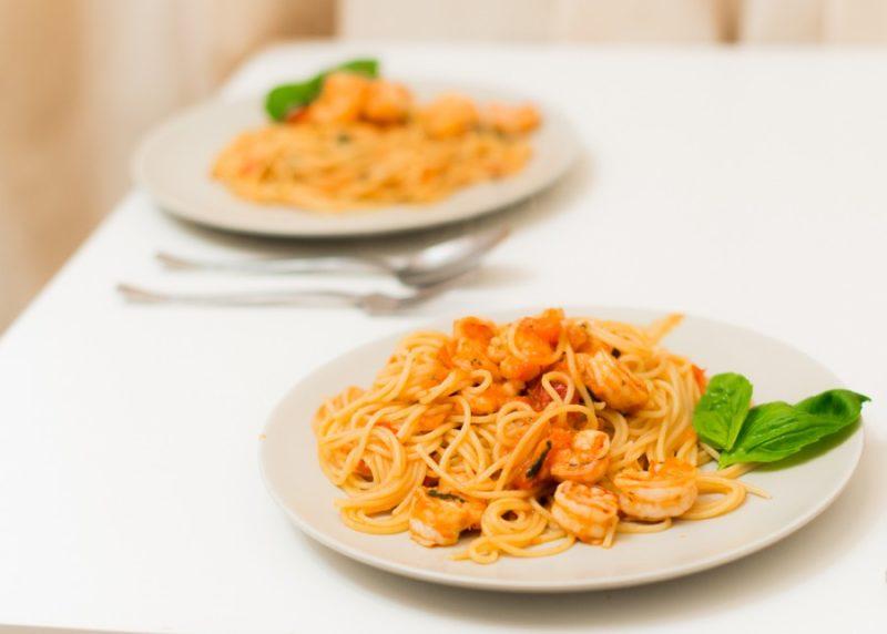 как сделать спагетти с креветками