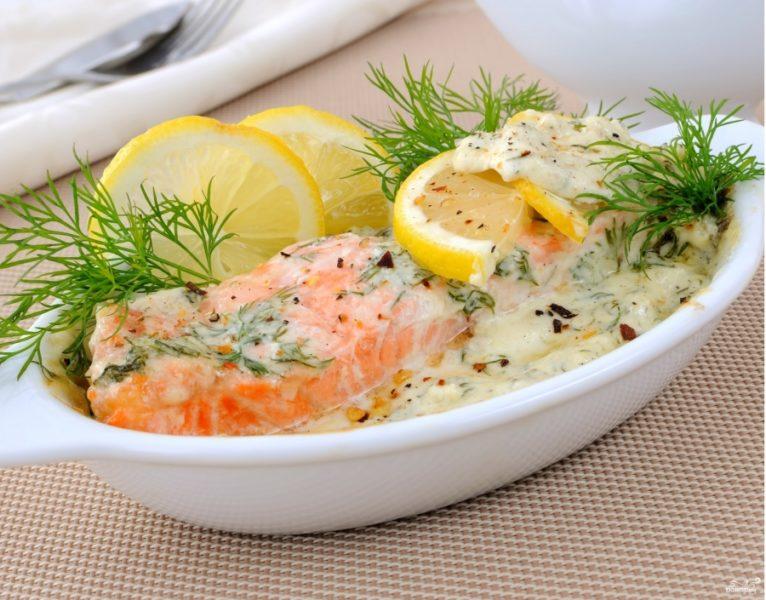 красная рыба в духовке рецепт с фото