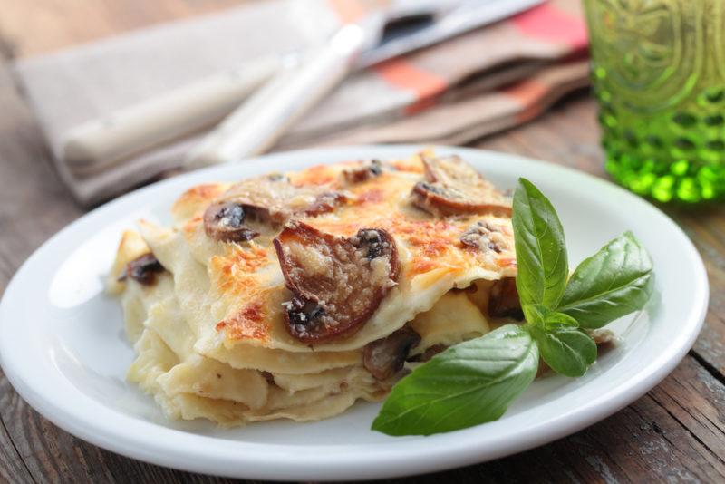 лазанья с курицей и грибами рецепты