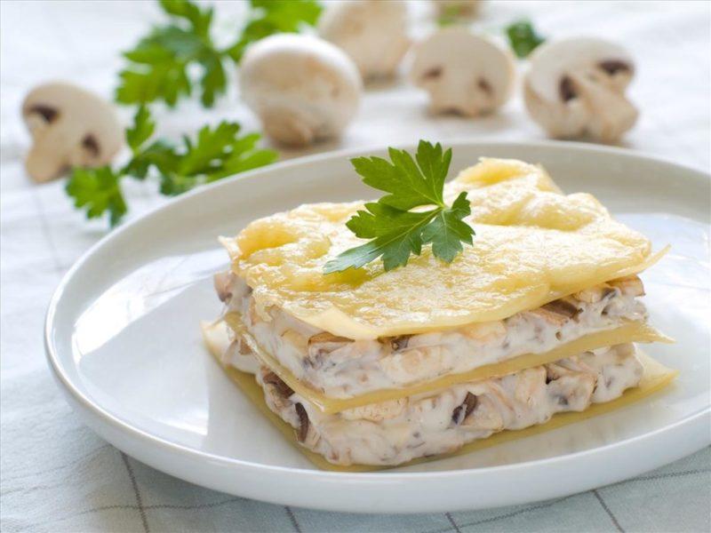 лазанья с курицей и грибами рецепт
