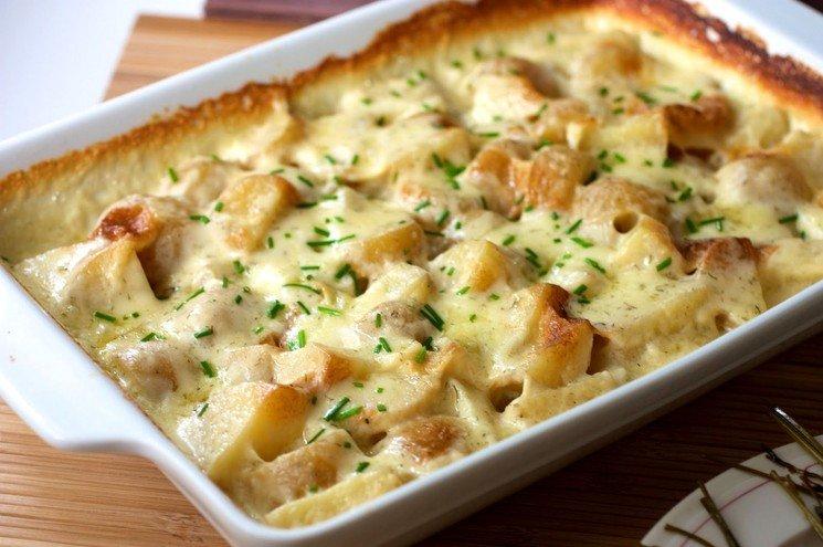 лучшая картофельная запеканка с курицей