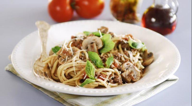 лучшие спагетти с грибами
