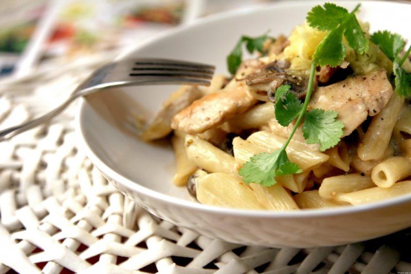макароны с курицей рецепт с фото