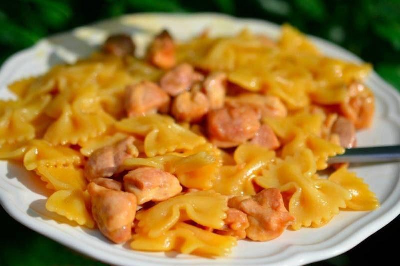 макароны с курицей рецепт