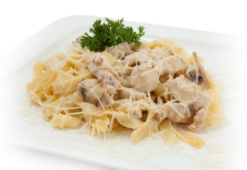 паста с курицей в сливочном соусе рецепт приготовления