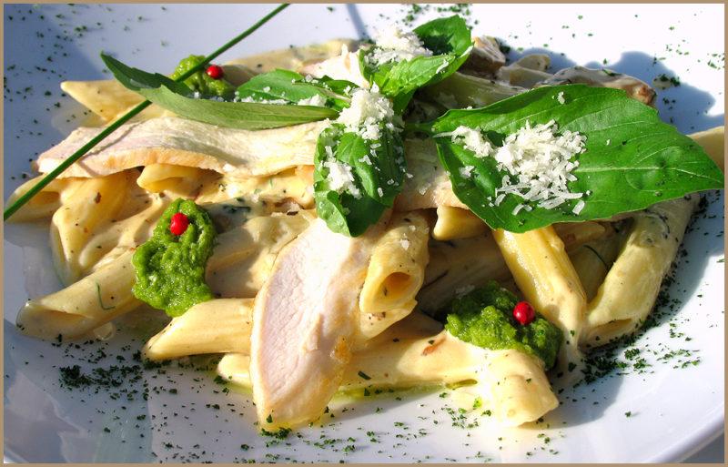 паста с курицей и грибами рецепт
