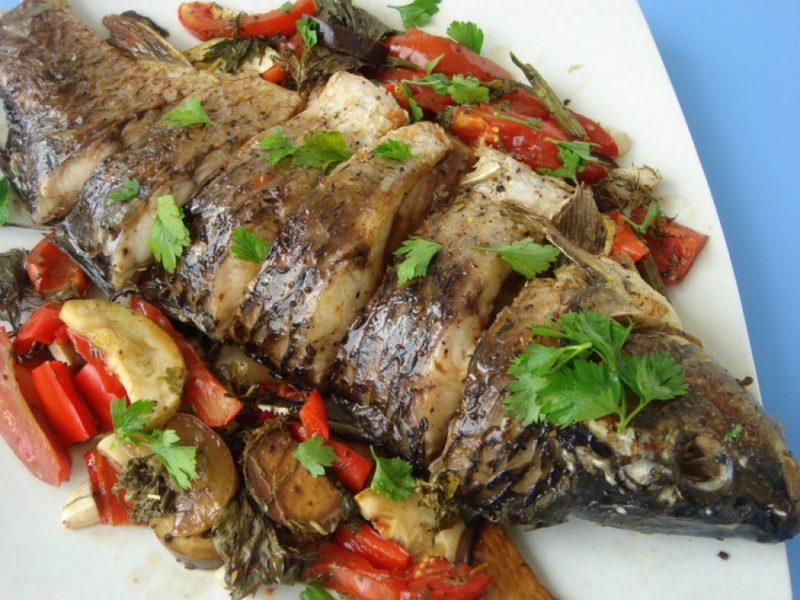 рыба с овощами рецепт приготовления