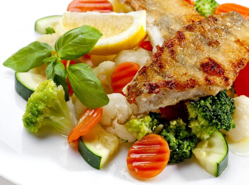 рыба с овощами рецепт