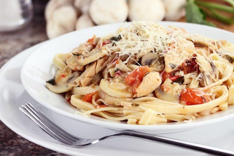 спагетти с грибами рецепт с фото