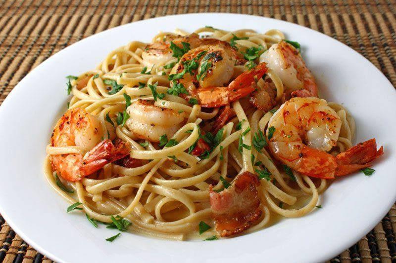 спагетти с креветками рецепты