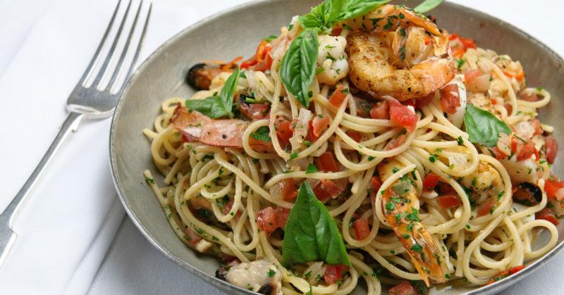спагетти с креветками рецепт приготовления