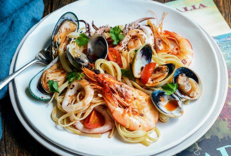 спагетти с морепродуктами рецепт приготовления