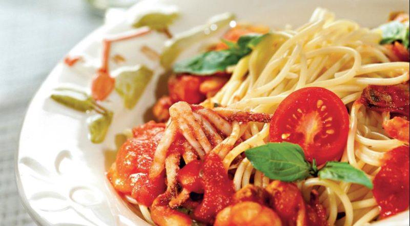 спагетти с морепродуктами рецепт