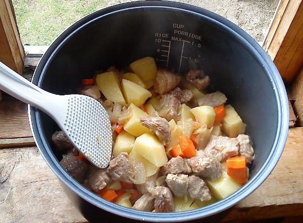вкусная картошка с мясом