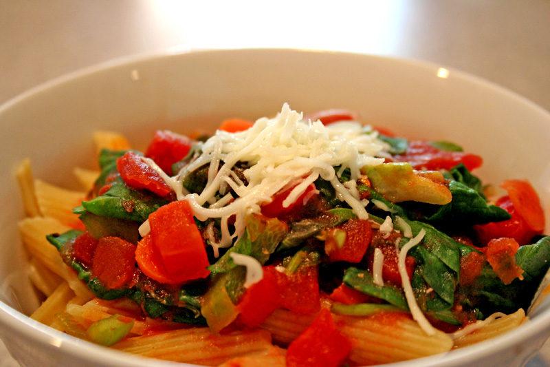 как сделать макароны с овощами