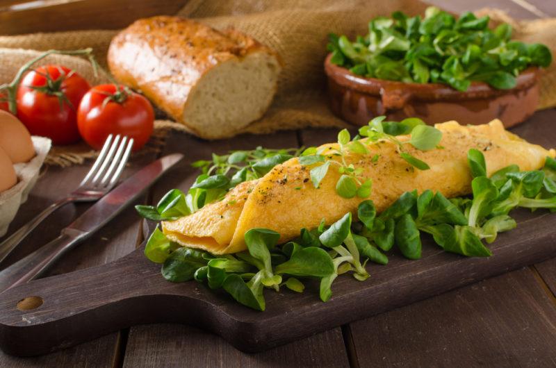 как сделать омлет с сыром