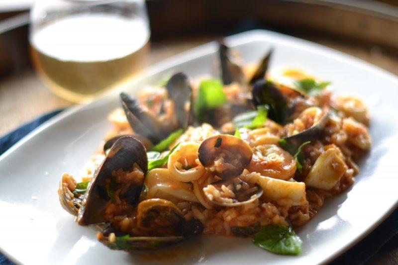 как сделать ризотто с морепродуктами
