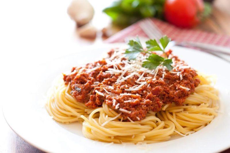 лучшие спагетти с фаршем