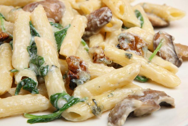 макароны с грибами рецепт с фото