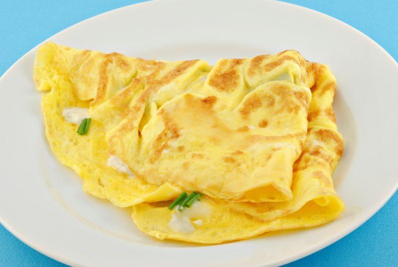 омлет без молока рецепт