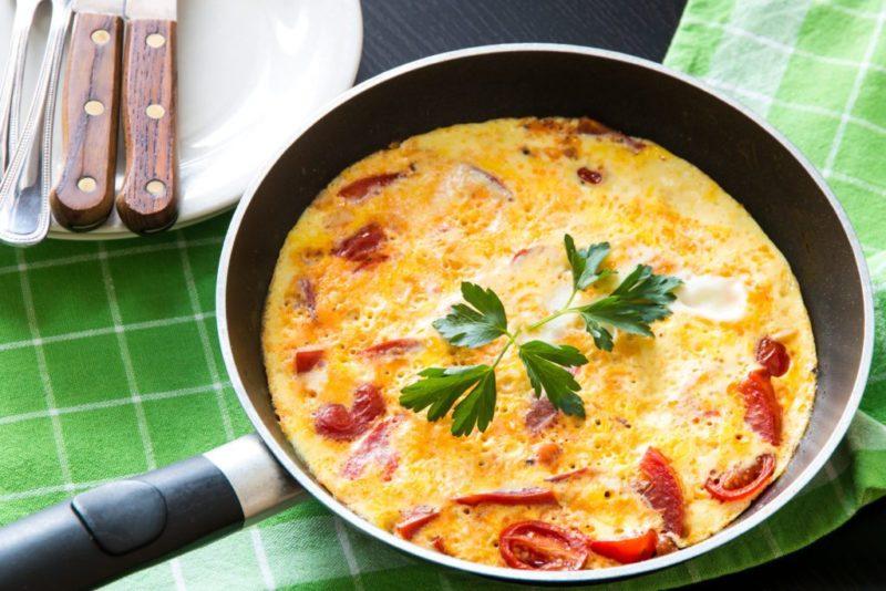 омлет на сковороде рецепт приготовления