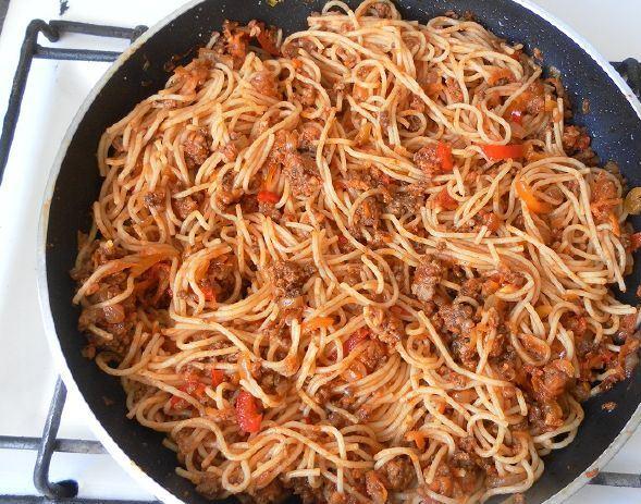 спагетти с фаршем рецепты