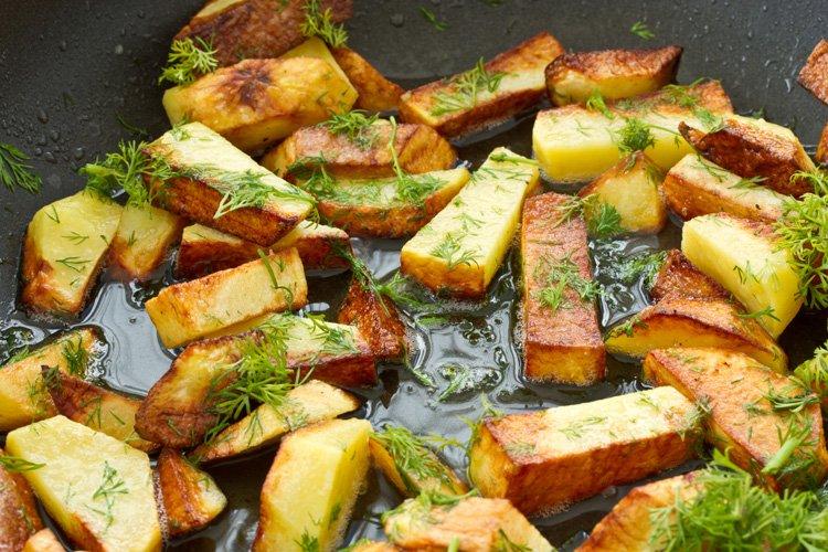 жареный картофель рецепт приготовления