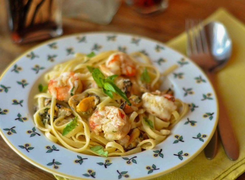 как готовить пасту с морепродуктами