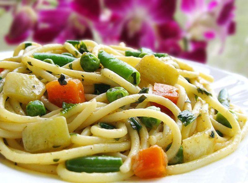 как приготовить пасту с овощами