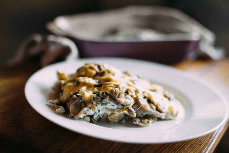 лазанья с грибами рецепт