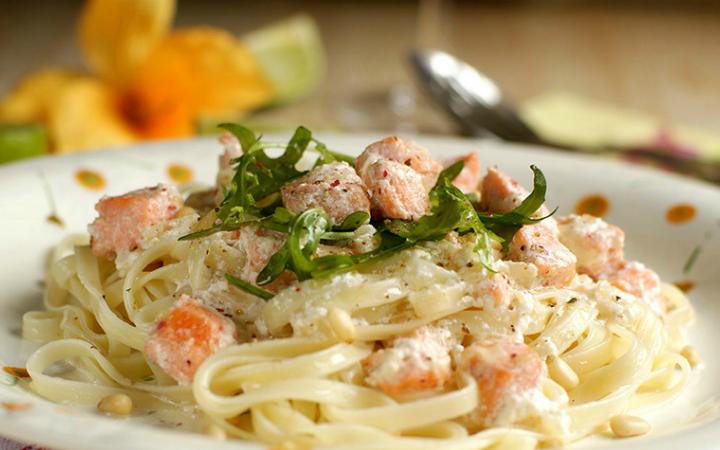 паста с лососем рецепт приготовления
