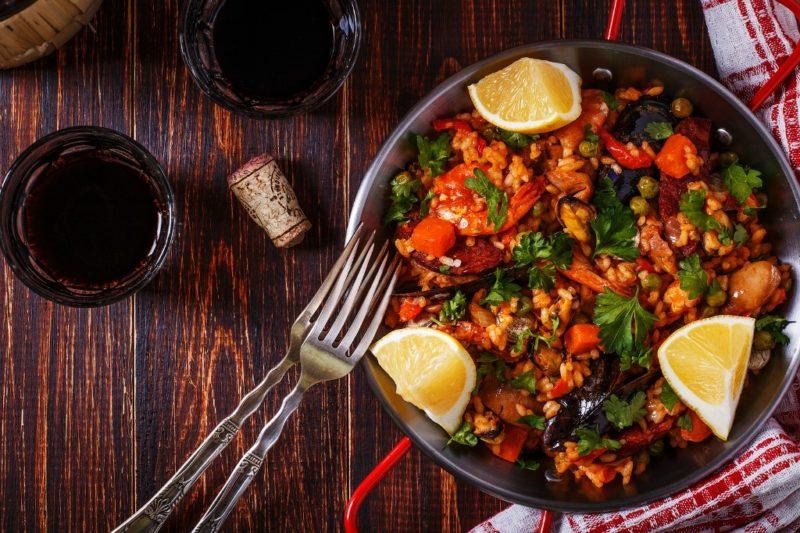 паэлья с морепродуктами рецепт с фото